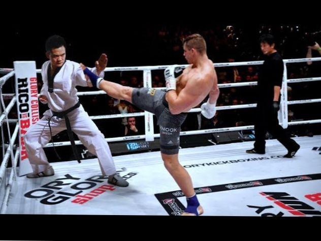 Shaolin monk brutal KO win vs taekwondo, Muay Thai, karate...