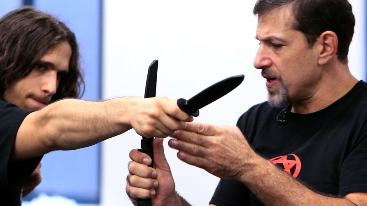 How to Defend against a Straight Stab | Krav Maga Defense