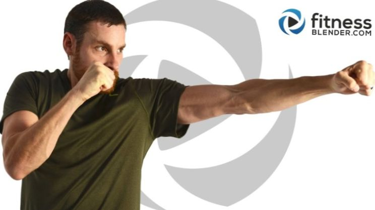 50 Minute Cardio Kickboxing & Abs Workout for Stress Relief & Fat Burning Cardio