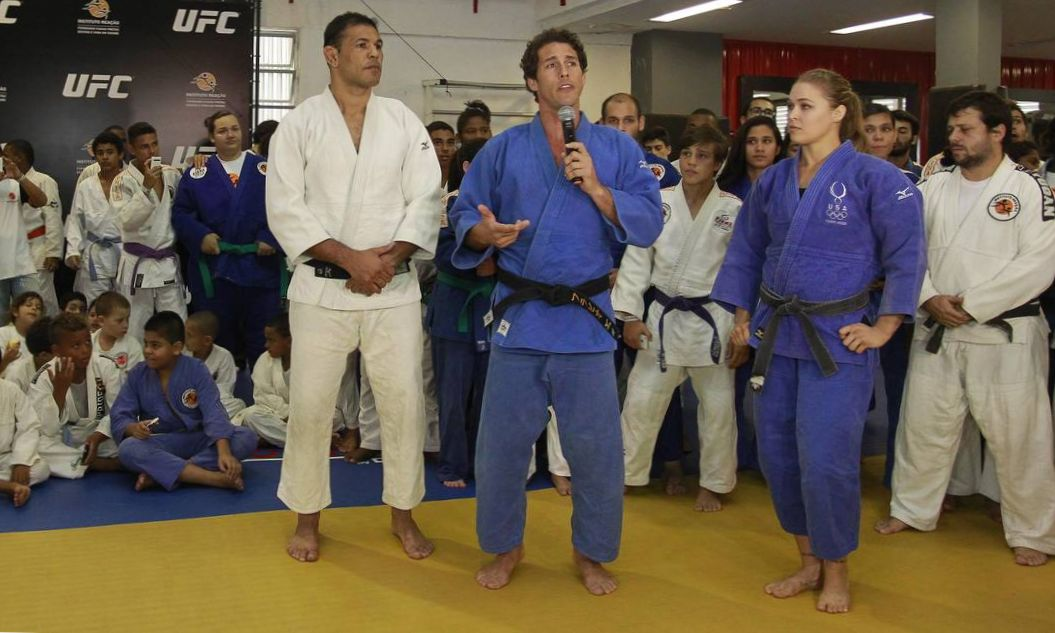 Ronda Rousey judo workout in Brazil