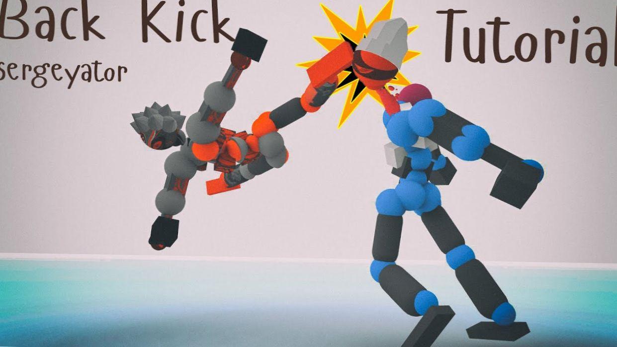 Toribash : Back Kick Tutorial (mod Wushu/Mushu)