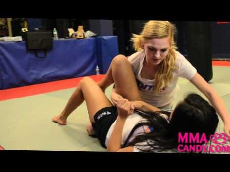 Triangle Escape – Girl Fight move- MMA Candy