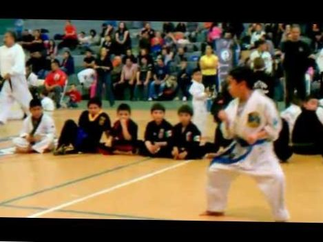 Primer lugar en Kata, Torneo de Karate, (Chun Kuk Do representado) de Erick Beltran en Mexico