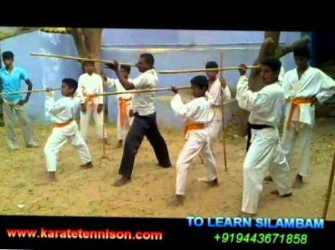 Silambam basic step stick rotating tamilnadu gold star silambam by karatetennison.com