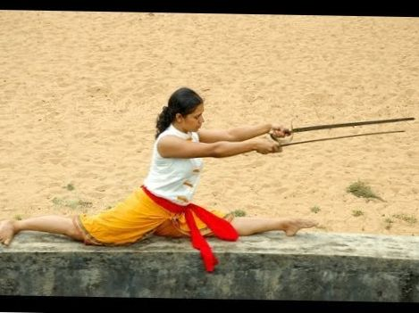 Kalaripayattu Training-Stick Fight Techniques (part 2)- kalari fight basic exercise documentary